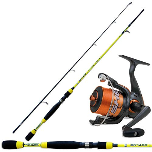 SHIZUKA Canna Pesca Spinning SH1400 180 + Mulinello SK6 2000