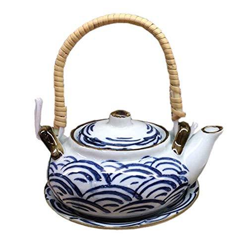 BLANCHO BEDDING Exquisito Destacado Multiusos Estilo Japonés Porcelana Tetera Sopa Olla 2#