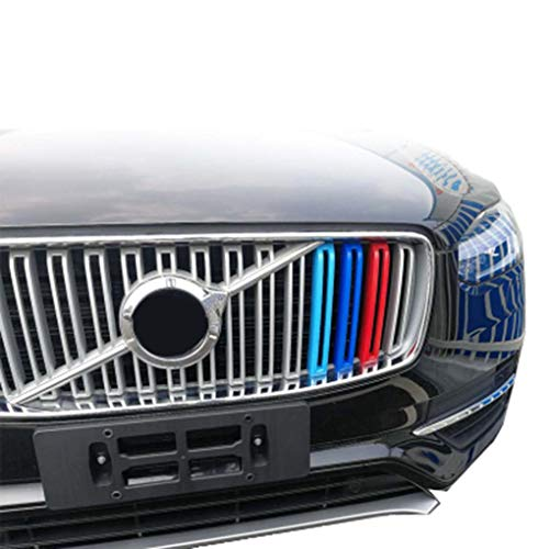 Front Grille Stripe Decals For 18 19 Nieuwe Volvo XC90 Clip In Grille Inserts Compatibel