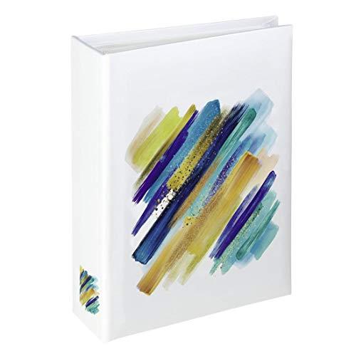 """Hama Minimax - Album fotografico tradizionale""""Brushstroke"""", 13 x 16,5 cm, 100 pagine per 100 foto formato 10 x 15 cm, protezione ideale, artistica, elegante, colore: Blu/Giallo/Arancione/Bianco"""