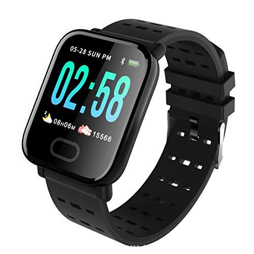 Wsaman Relojes Deportivos Ejercicio Fitness,Pulsera de Actividad, con Rtmo Cardíaco, Sueño Monitor, para Niños y Niñas,Reloj Inteligente,Negro