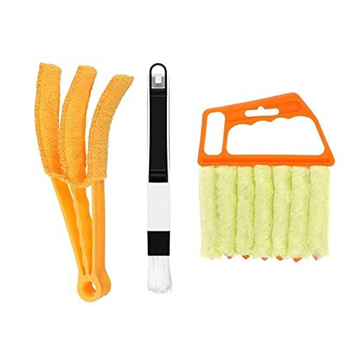 Detergente per tende da finestra, 3 pezzi, per persiane in plastica, strumento di pulizia delle tapparelle, facile da pulire, spazzola di pulizia dell'aria per auto, strumento di pulizia ideale