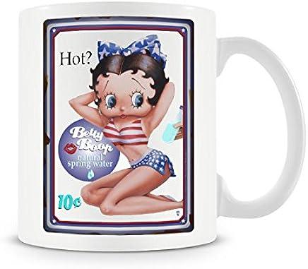 Preisvergleich für Offizielles Lizenzprodukt Betty Boop HOT Kaffeetasse, Kaffeebecher