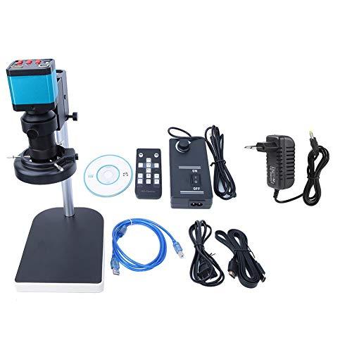 Cámara de Microscopio, 14MP CMOS HDMI HD LED Conjunto de Cámara para Industria Digital USB2.0 1920x1080 Grabadora de Video Soporte Tarjeta Max 64GB TF Control remoto para Moldes Joyas Relojes etc(UE)