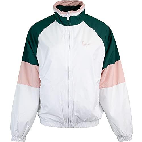 Karl Kani Small Signature - Chaqueta deportiva para mujer blanco/verde/rosa M