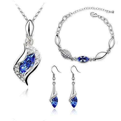 bride jewelry sets for wedding blue