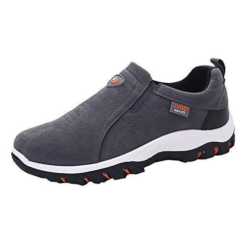 Men Hiking Shoes for Outdoor, Male Sports Shoes Non-Slip Wearable Breathable Fashion Sneakers Best Top