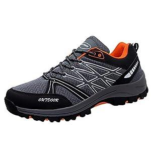 41jfjjR3eCL. SS300  - Zapatillas de Seguridad con Puntera de Acero Hombre Mujer al aire libre Zapatos para caminar antideslizantes Zapatos para correr Transpirables Zapatillas de Senderismo Deportivas Antideslizante Unisex