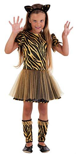 Magicoo Süßes Tiger Kostüm für Kinder Mädchen - Kostüm Leopard für Mädchen (128)