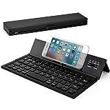 Wesimplelife Bluetooth Tastatur Faltbare QWERTZ Layout Kabellose Kleine Keyboard Ultradünn Portable Falttastatur Kabellos Kompatibel für...
