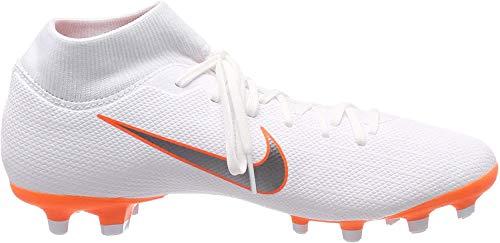 Nike Unisex-Kinder Mercurial Superfly 6 GS MG Junior Fußballschuhe, Weiß (White/Chrome-Total O 107), 35.5 EU