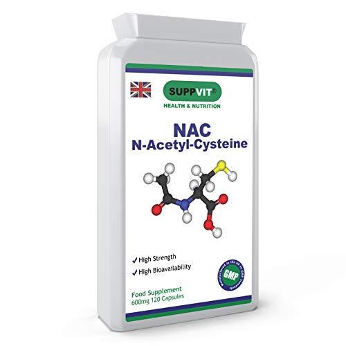NAC N-Acetyl-Cysteine   Amino Acid   600mg 120 Capsules   UK Manufactured   GMP Certified   Vegetarian and Vegan