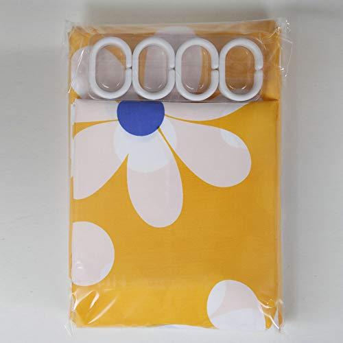 YCZZ Badkamer gordijn geel zon bloem douchegordijn, polyester stof afdrukken douchegordijn 260 * 200 hoog CM zon bloem douchegordijn