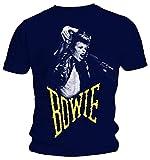 David Bowie - Scream - Oficial Camiseta para Hombre - Azul, Large
