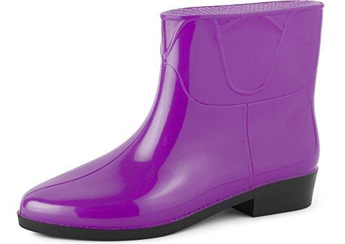 Ladeheid Botines Botas de Agua Zapatos Mujer LAZT201801...