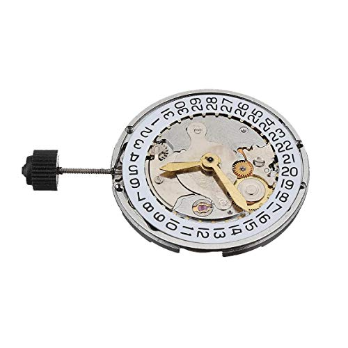 MYAMIA Mecánico Reloj De Movimiento Automático Calendario De Alta Precisión De Reemplazo De Reloj De Pulsera para ETA 2824 - Blanco