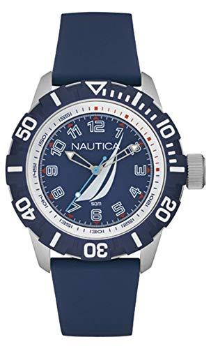 Nautica Reloj Analógico para Unisex Adultos de Cuarzo con Correa en Silicona NAI08505G