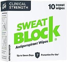 Sweatblock Antitranspirant voor mannen en vrouwen, anti-transpirante wisdoeken met medische kracht voor hyperhidrose,...