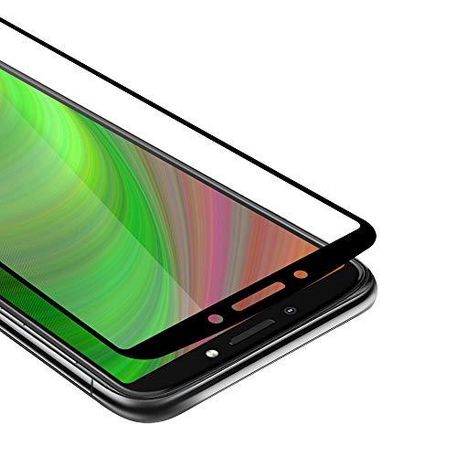 Cadorabo Vollbild Panzer Folie kompatibel mit Motorola Moto E5 Plus - Schutzfolie in TRANSPARENT mit SCHWARZ - Gehärtetes (Tempered) Bildschirm-Schutzglas in 9H Festigkeit mit 3D Touch