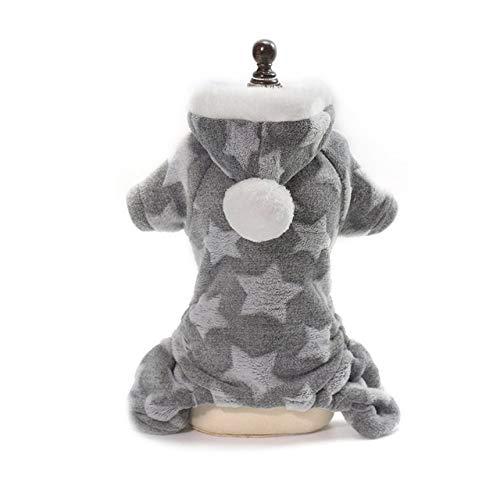 Warm Hunde-Bekleidung für kleine Hunde weichen Winter Hundekleidung Stern Cotton Dog Tops grau M Warm Hunde-Bekleidung für kleine Hunde weichen Winter Hundekleidung Stern Cotton Dog Tops Mode-Herbst-W