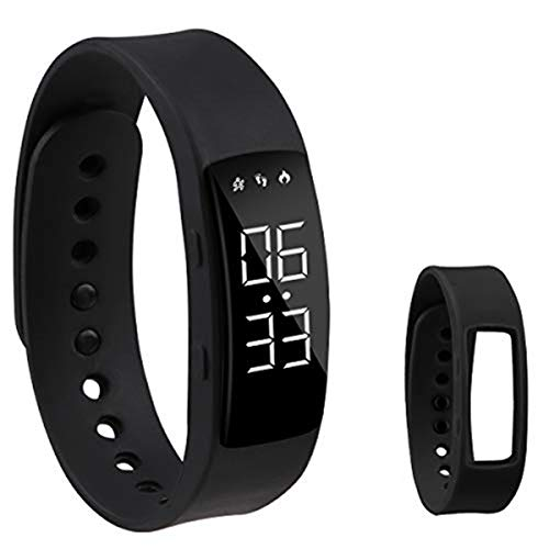 Hootracker Smart Watches Fitness Tracker Activity Watch Electronic Multi-Function Step Counter Wristband Calorie Step Counter for Kids Men Women Non Bluetooth Need