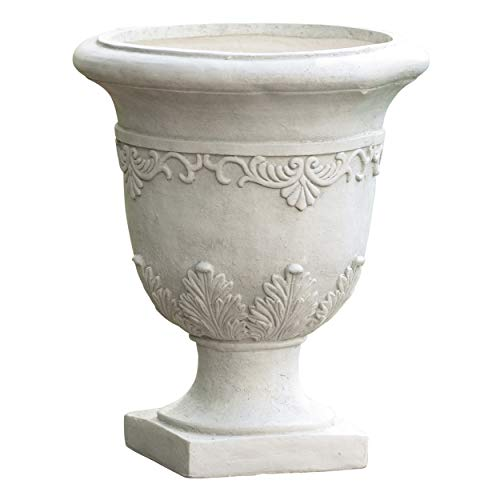 """Christopher Knight Home Antique Moroccan Urn Planter, 20"""", White"""