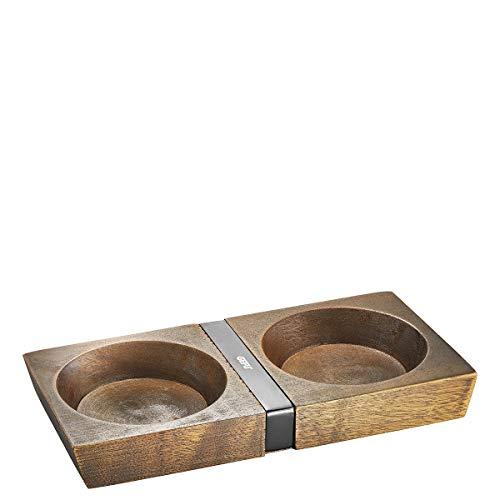 GEFU Mühlenuntersetzer X-PLOSION® M, Holz-Untersetzer für Gewürzmühlen, robustes Akazienholz