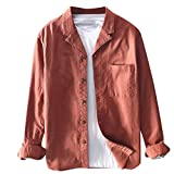 Luckycat Camisa Pana a Raya Manga Larga para Hombre Camisa Casual Camiseta para Hombre Tops para Hombre Blusa para Hombre