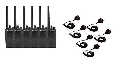 Motorola RMV2080 Business Zwei-Wege-Radios mit Lautsprecher-Mikrofon, 6 Stück