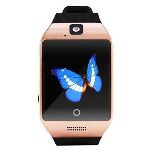 Reloj Inteligente con Pantalla táctil, Reloj con cámara con Ranura para Tarjeta SIM, podómetro, rastreador de Ejercicios, Reloj para teléfono para niños, Dorado