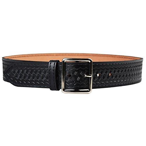 Safariland Duty Gear Garrison Chrome Buckle Belt (Basketweave Black, 38-Inch)