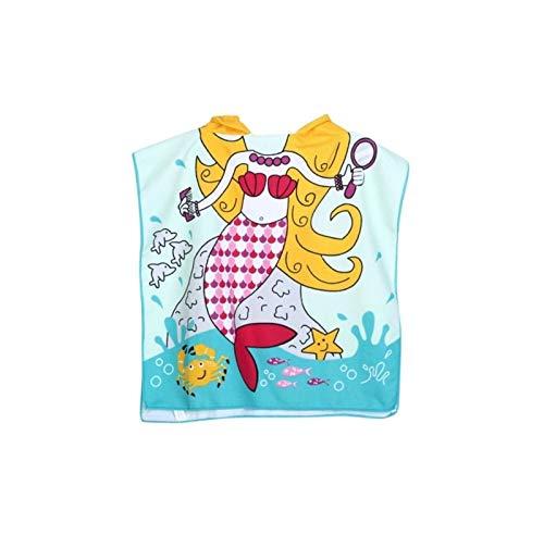 Luckylele Niños Bañera Toalla Patrón de Pescado Niños Playa Toalla Dibujos Animados Capucha Chica Chica Bebé Baño Toalla Suave Cómoda Cómoda Niños Niños Toalla para 0-4 años Toalla de baño para niños