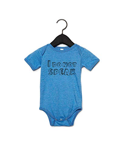 Promini I Do Not Speak - Body para bebé con cita Blanco blanco 6 mes