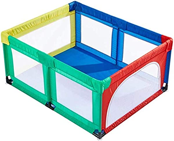 Playpens Extra Large Baby Playards Portable Assembled, Indoor Infant Safety Play Yard Children's Crawling Fence, Multicolor (Size : 120?150cm)