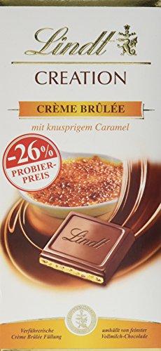 Lindt Creation Créme Brûlée, Promotion, Vollmilchschokolade mit karamellisierten Zuckerstückchen und knusprigem Biskuit (1 x 150 g)