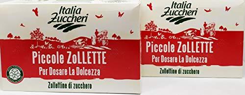 PICCOLE ZOLLETTE DI ZUCCHERO ' ITALIA ZUCCHERI ' DOUBLE PACK CONTENENTE DUE PACCHI DA KG 1 CAD