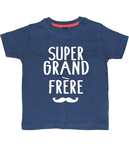 Super Grand FRERE' 3-4 Ans Tee Shirt Marine