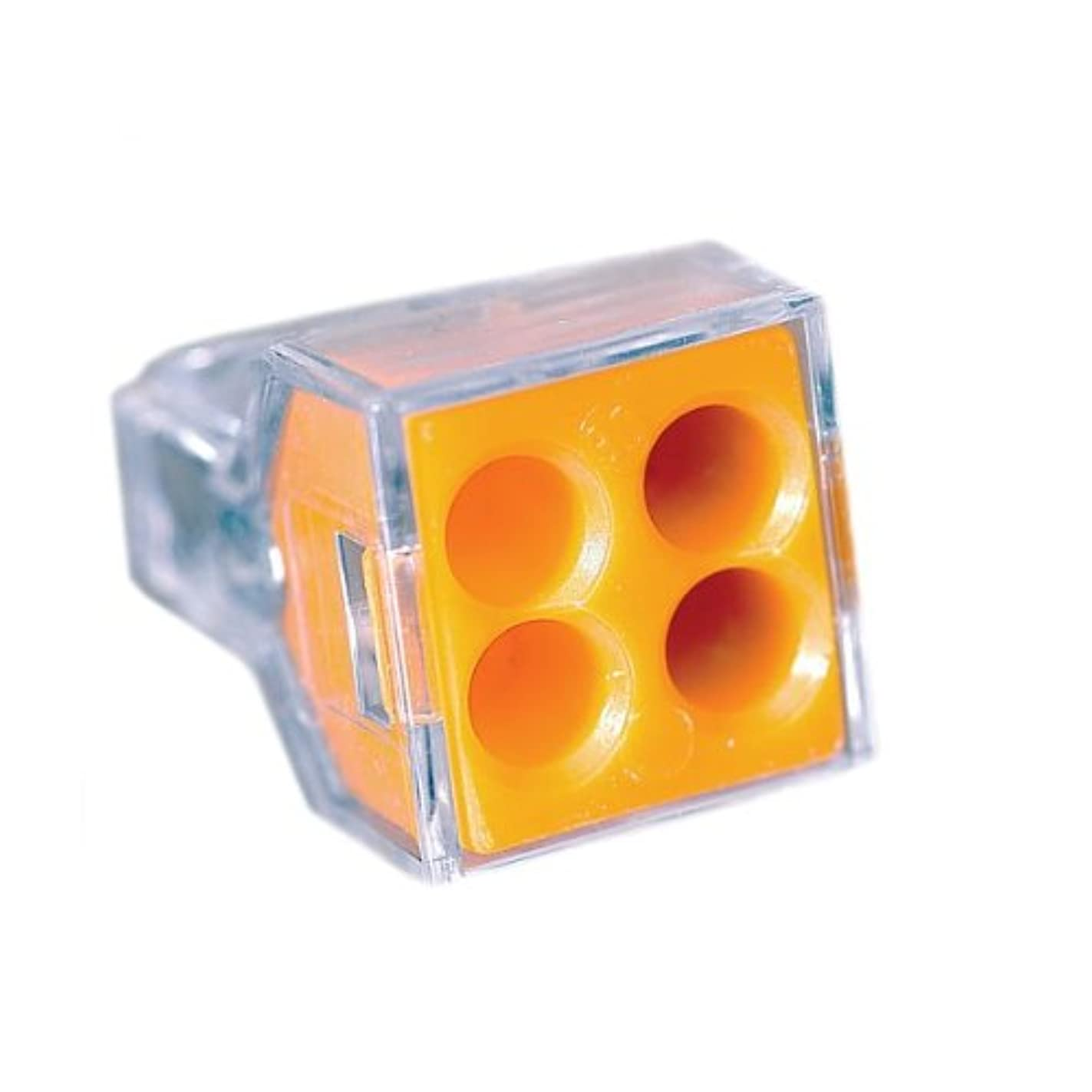 Wago Wire Connector 600 V Clear 4 Conductor 100 / Box