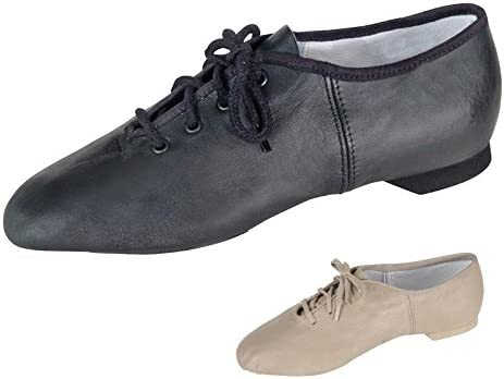 Adult 保証 Black Leather Split Sole 数量限定 Jazz Shoes