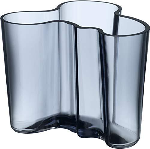 Iittala Aalto vaas, mondgeblazen glas, blauw