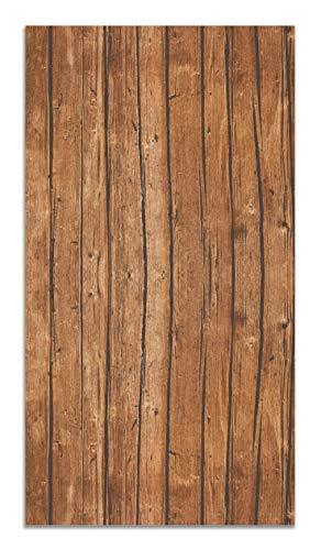 Panorama Alfombra Vinílica Textura de Madera 60x110 cm - Alfombra Cocina Vinilo - Alfombra Salón Antideslizante, Antihongos e Ignífuga - Alfombras Grandes - Alfombras PVC