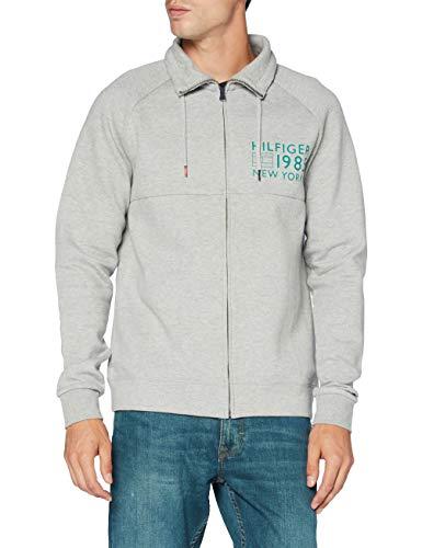 Tommy Hilfiger Herren Zip Thru Jacket Sweatshirt, Grau (Grey Heather 004), Medium