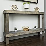 Dunlap Solid Wood Console Table, Adult Assembly Required: No, Top Material: Solid Wood
