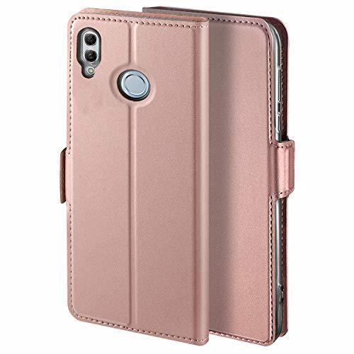YATWIN Handyhülle für Huawei P Smart 2019 Hülle & Honor 10 lite Hülle Leder Premium Leder Flip Schutzhülle für Huawei P Smart 2019 Tasche, Rose Gold
