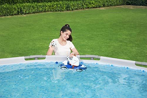 Bestway 58482 Robot électrique autonome Aquatronix™ pour piscine à fond plat, batterie rechargeable