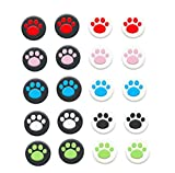 Cat Paw Thumb Stick Grip Cap Joystick Cover for Sony PS5 PS4 PS3 Slim PS2 Xbox 360 Xbox One Series X S Elite Switch Pro Thumbstick (White Black)