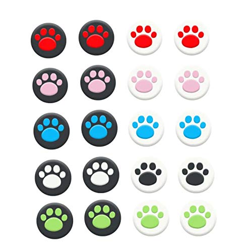 Cat Paw Thumb Stick Grip Cap Joystick Cover for Sony PS5 PS4 PS3 Slim PS2 Xbox 360 Xbox One Series X S Elite Switch Pro Thumbstick (Mix Red)