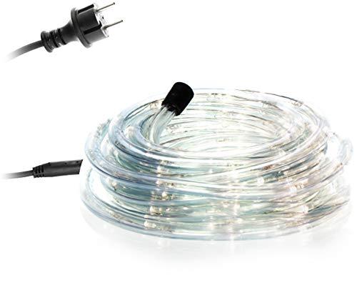 com-four® LED Lichterschlauch für innen und außen - Flexible Lichterkette mit warm-weißen LEDs - Lichtschlauch als Deko-Weihnachtsbeleuchtung (01 Stück - 06m/weiß 7.2W)
