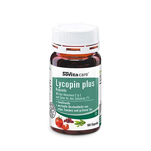 Lycopin plus Kapseln | Mit den Vitaminen C & E und Selen für den Zellschutz | Nahrungsergänzungsmittel | 100 Kapseln