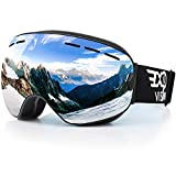 Snowboard Ski Goggles for Men Women and Youth, Over Glasses Skiing Snowboard Goggles with Anti Fog and UV400 protection Dual Lenses Snow Goggles